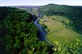 symond yat river wye countryside rural environmental uk limestone cliffs peregrine falcon wooded valley herefordshire england english great britain united kingdom british
