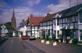 market town weobley herefordshire. half timbered buildings historical uk history british architecture architectural tudor elizabethan half-timbered half timbered halftimbered frame house mediaeval herefordshire england english great britain united kingdom
