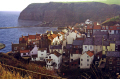 fishing village staithes yorkshire north east england northeast english uk captain james cook whitby harbour hamlet evening sunset great britain united kingdom british