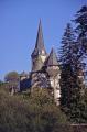 church chateau seilhac department corrèze france. french buildings european travel clock steeple tower limousin corr ze correze france la francia frankreich europe