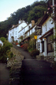 rising sun hotel overlooking lynmouth harbour devon country pubs public houses countryside rural environmental uk house sunset twilight evening lynton exmoor devonian england english great britain united kingdom british