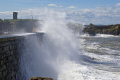 waves dunbar harbour. harbour harbor uk coastline coastal environmental east lothian firth forth north sea ocean tide spume spray briny salty swell central scotland scottish scotch scots escocia schottland great britain united kingdom british