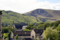 castleton derbyshire. treak cliff cavern mam tor shimmering mountain rural britain countryside rustic pastoral environmental uk peak district national park limestone blue john speedwell devil arse peveril castle derbyshire england english great united kingdom british