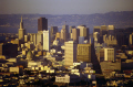 early evening shot downtown san francisco taken twin peaks california american yankee travel bay area bridge van ness transamerica pyramid franciscan californian usa united states america