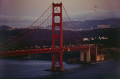 south end golden gate bridge sutro tower twin peaks peeping cloud distance. san francisco california american yankee travel fort point presidio park marin county headlands peninsula evening twilight franciscan californian usa united states america kingdom british