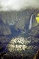 yosemite upper lower falls np california. waterfalls cascade cataracts geology geological science misc. california national park john muir merced river misty trail cataract californian usa united states america american