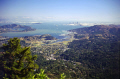 view mt tamalpais marin county looking south san francisco bay bridge. california american yankee travel peninsula headlands richmond oakland tiburon sausalito angel island alcatraz franciscan californian usa united states america