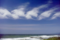 shot rare kelvin-helmholtz kelvin helmholtz kelvinhelmholtz waves cirrus clouds. taken pacific near santa cruz california. sky natural history nature misc. meteorology spiral wind shear eddies vortex vortices atmospheric weather california californian usa united states america american