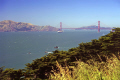 golden gate bridge san francisco looking east bay. california american yankee travel sf marin county headlands peninsula lands end seal rocks state beach alcatraz franciscan californian usa united states america