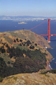 golden gate bridge marin headlands. oakland far distance. san francisco california american yankee travel sf county peninsula bay area alcatraz treasure island franciscan californian usa united states america