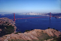 golden gate bridge marin headlands. downtown san francisco distance oakland far bay. california american yankee travel pacific county peninsula bay area alcatraz treasure island franciscan californian usa united states america
