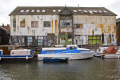 river wensum norwich england old corrugated warehouse building boats marine misc. holiday leisure norfolk english great britain united kingdom british