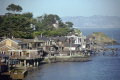 tiburon mar east street houses water. san francisco california american yankee travel bay area stilts platform raised peninsula franciscan californian usa united states america