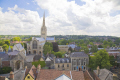 view norwich st georges church tower tombland uk cathedrals worship religion christian british architecture architectural buildings building medieval cityscape norfolk england english great britain united kingdom