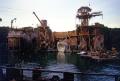 universal studios film set waterworld. los angeles la california american yankee travel hollywood tinseltown kevin costner scrap iron rusting recycled reclaimed californian usa united states america