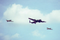 battle britain formation hawker hurricane avro lancaster supermarine spitfire doing fly-by fly by flyby raf finningley yorkshire. royal air force aeronautics uk military militaries fighter bomber doncaster display yorkshire england english great united kingdom british