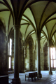 inside abbey mont st michel normandy. french buildings european travel abbeye causeway mediaeval vaulted island malo architecture touristic basse-normandie basse normandie bassenormandie france la francia frankreich europe