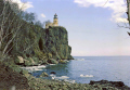 split rock lighthouse north shore lake superior minnesota usa. american yankee travel great highway 61 hwy duluth beaver bay gitche gumee usa united states america