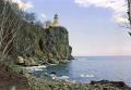 split rock lighthouse north shore lake superior minnesota usa. american yankee travel great highway 61 hwy duluth beaver bay gitche gumee usa united states america