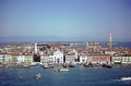 venice campanile san giorgio maggiore. dolomite mountains seen far distance. north east italy italian european travel waterfront venezia venecia italia piazzetta marco piazza venitian italien italie europe