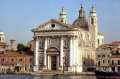 venice church igreja santa maria rosario. north east italy italian european travel marble venezia italia palladio columns classical greek waterfront venecia chiesa venitian italien italie europe