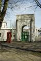 entrance birkenhead tunnel liverpool side. unusual british buildings strange wierd uk road phone box thirties mersey river merseyside scouse england english great britain united kingdom