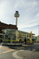 bus station centre liverpool showing radio city tower buses transport transportation uk glass stand mersey merseyside scouse england english great britain united kingdom british