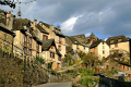old pilgrimage town conques france french buildings european travel way st james jacques route ste aveyron midi-pyrenees midi pyrenees midipyrenees basilica eglise medieval santiago compostela la francia frankreich europe