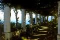 shady capri garden famous 19th century doctor author axel munthe. southern italy italian european travel shaded italia costiera amalfitana sorrento napoli naples walled ornamental italien italie europe