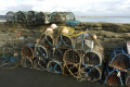 traditional lobster pots harbour wall harbor uk coastline coastal environmental fishing local sea manx fresh isle man england english great britain united kingdom british