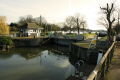 east molesey lock river thames. busy spot weekend near hampton court palace uk rivers waterways countryside rural environmental boating leisure gates water boats surrey england english great britain united kingdom british
