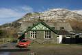 patterdale village hall fells background british lakes countryside rural environmental uk fell walking lakeland hills snowy cumbria cumbrian england english great britain united kingdom