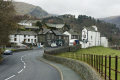 patterdale village winding road white lion pub british lakes countryside rural environmental uk lakeland shops houses stone cumbria cumbrian england english great britain united kingdom