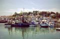 fishing boats anchor harbour hendaye south-west south west southwest france. french european travel aquitaine st-jean-de-luz st jean de luz stjeandeluz bayonne biarritz pays-basque pays basque paysbasque atlantic golfe gascogne france la francia frankreich europe