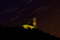rocher dabo chapelle saint-léon saint léon saintléon starry sky long exposure. natural history nature misc. alsace planets astronomy stars trails cosmology night eglise lorraine france la francia frankreich europe european french