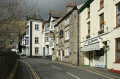 sedburgh town looking main streets. book north bookshops historical uk buildings history british architecture architectural shops pub houses traditional old yorkshire england english great britain united kingdom