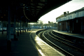 bath spa station uk railway stations railways railroads transport transportation avon sunset england wiltshire wilts english great britain united kingdom british