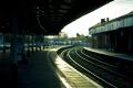 bath spa station uk railway stations railways railroads transport transportation avon sunset england wiltshire wilts english great britain united kingdom british