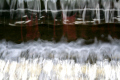 taken weir garden route water cascading small dam wall. freshwater seascapes scenery scenic underwater marine diving abstract texture interesting lake south africa afrikaans african