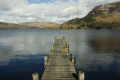landing stage ullswater lake fells background district north west northwest england english uk boat boating lakes pier wooden cumbria cumbrian great britain united kingdom british