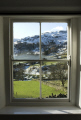 traditional window view fells outside lake district north west northwest england english uk hills views looking cumbria cumbrian great britain united kingdom british