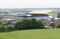 leeds united football ground viewed beeston hill soccer sport sporting celebrities celebrity fame famous star people persons elland road yorkshire england english great britain kingdom british