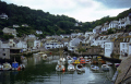 harbour polperro cornwall. harbor uk coastline coastal environmental fishing boat village port quayside anchorage haven cornwall cornish england english great britain united kingdom british