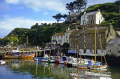 polperro cornwall. harbour harbor uk coastline coastal environmental fishing boat village port quayside anchorage haven cornwall cornish england english great britain united kingdom british