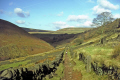 green lane near shires head derbyshire cheshire staffordshire meet. moorland countryside rural environmental uk peak district park dry stone wall winter hiking rambling walking england english great britain united kingdom british
