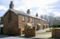 railway cottages crewe. uk british housing houses homes dwellings abode architecture architectural buildings cheshire crewe england english great britain united kingdom