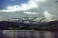 island tysnesøy norway. taken bergen ferry showery summer day. european travel norge clouds meteorology cumulus bjørnafjorden fishing village norway kongeriket europe norwegan
