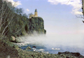 split rock lighthouse north shore lake superior minnesota american yankee travel great highway 61 hwy weather meteorology duluth beaver bay gitche gumee ice fog sea mist usa united states america