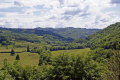 corrèze valley near tulle limousin french landscapes european travel river floodplain meadow correze france la francia frankreich europe