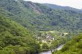 tiny hamlet aynes river dordogne corrèze france french landscapes european travel barrage dam aigle neuvic lapleau correze limousin la francia frankreich europe